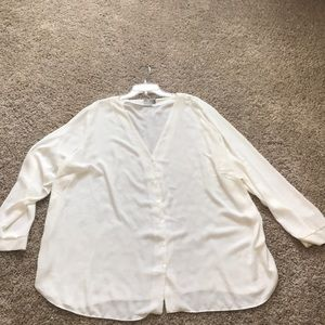 ASOS curve button down blouse
